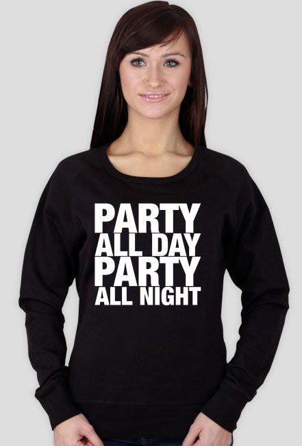 Bluza damska - PARTY ALL DAY, ALL NIGHT (czarna)