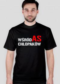 """Koszulka t-shirt męski z nadrukiem """"AS wśród chłopaków"""""""