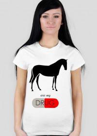 Horses t-shirt damski