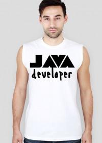 Koszulka bez rękawów JAVA developer - biała
