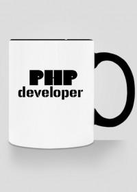Kubek z kolorowym uchem PHP developer