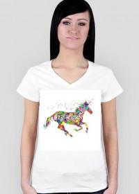 Specjalna kolekcja 3 z 12 - Koszulka damska tęczowy #UNICORN
