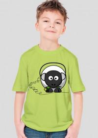koszulka dziecięca - Owieczka- STYLOWAKOSZULA.CUPSELL.PL – KOSZULKI I KUBKI NA PREZENT, NIETYPOWE I SMIESZNE KOSZULKI