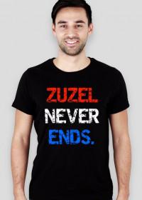 "Koszulka ""Zuzel never ends."", slim-fit"