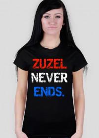 """Koszulka """"Zuzel never ends."""", damska"""