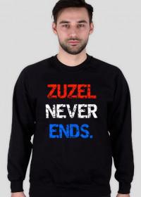 """Bluza """"Zuzel never ends."""""""