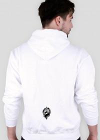 Biała ciekawa bluza