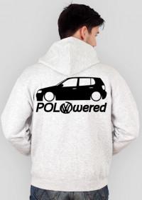 POLOwered v1 (bluza na zamek) ciemna grafika przód i tył