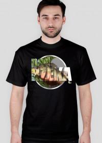 Koszulka męska NAD RZEKĄ - czarna