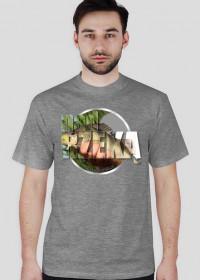 Koszulka męska NAD RZEKĄ - szara