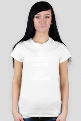 Koszulka wegańska/wegetariańska: Keep Calm And Go Vegan