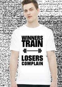 Winners Train Losers Complain (t-shirt) dark image