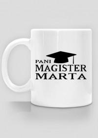 Kubek Pani Magister z imieniem Marta