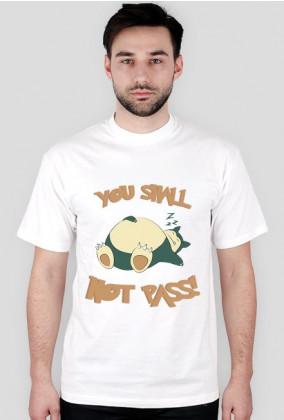 """Snorlax """"You shall not pass!"""" Koszulka męska Pokemon"""