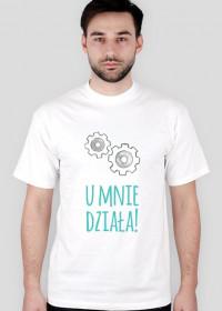U mnie działa! - geek - t-shirt męski