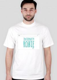 Robię Internety - geek - t-shirt męski