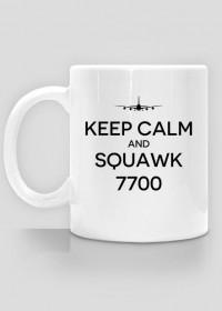 """AeroStyle - kubek lotniczy """"Keep calm and squawk 7700"""""""