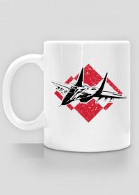 AeroStyle - patriotyczny kubek lotniczy Mig 29 z szachownicą