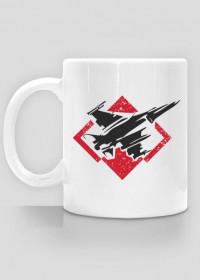 AeroStyle - patriotyczny kubek lotniczy F-16 z szachownicą