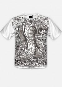 Wąż i czaszki - koszulka fullprint