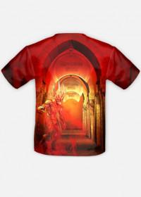 Koszulka mroczna fantasy dwustronna fullprint
