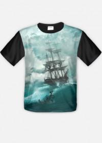 Koszulka ze statkiem fullprint