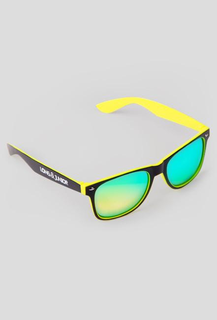 Okulary przeciwsłoneczne - Long & Junior (czarno-żółte)