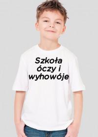 Szkoła óczy i wyhowóje (koszulka dziecięca) ciemna grafika