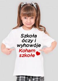 Koham szkołe (koszulka dziecięca) ciemna grafika