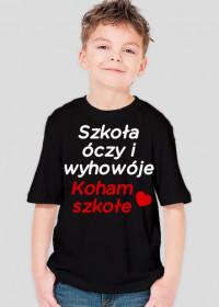 Koham szkołe (koszulka dziecięca) jasna grafika