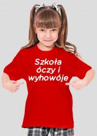 Szkoła óczy i wyhowóje (koszulka dziecięca) jasna grafika