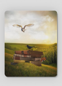 Zwierzęta i książki - podkładka pod myszkę