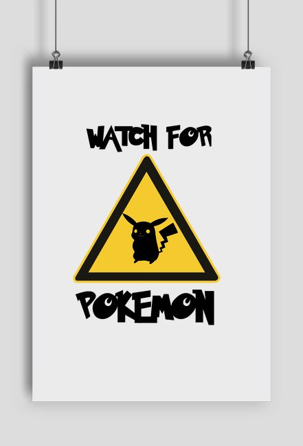 Plakat Watch for Pokemon