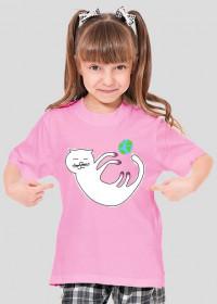 kotek koszulka dziewczynka