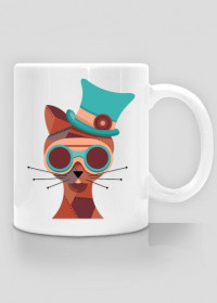 Steampunk Cat – kubek