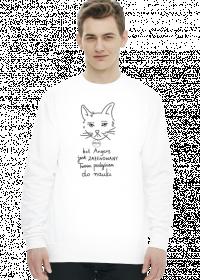 Bluza biała - ZAŻENOWANY KOT ANGENS