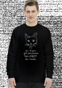 Bluza czarna - ZAŻENOWANY KOT ANGENS