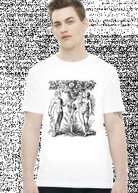 Koszulka z Adamem, Ewą i kościotrupem