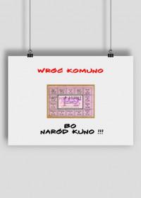 "Boom Plakat ""Wróć Komuno..."""