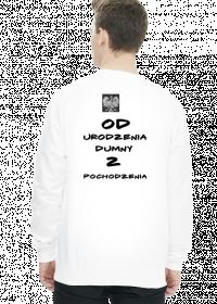 bluza z nadrukiem polska biała
