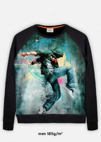 bluza z nadrukiem dance