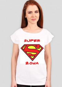 koszulka z nadrukiem super żona