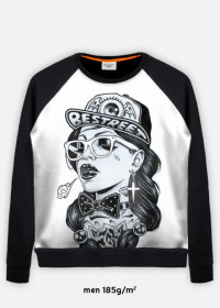 bluza z nadrukiem rap girl