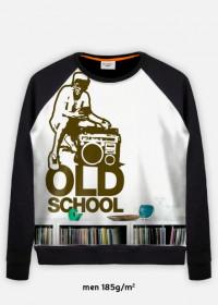 bluza z nadrukiem old school
