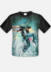 koszulka z nadrukiem dance full