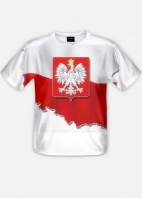 koszulka z nadrukiem Polska Full