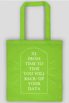 god said you will back-up your data BAG