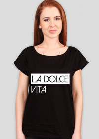 La Dolce Vita czarny tshirt