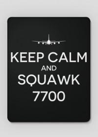 """AeroStyle - podkładka pod mysz """"Keep calm and squawk 7700"""""""