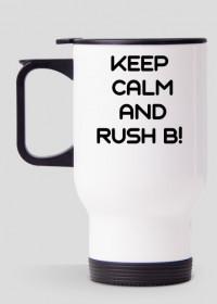 "Kubek termiczny ""keep calm and rush b"""